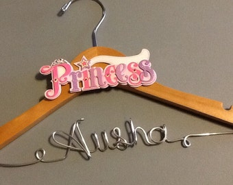 Personalized New Baby Girl/Small Child Custom Wire Hanger - Great shower gift