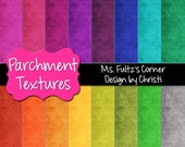 Parchment Digital Paper Backgrounds for Personal and Commercial Use: textured, rainbow