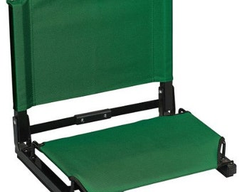 Embroidered Stadium Chair (Seat) with  Custom Embroidery.  Available in Gray, Black, Red, Blue, Forest Green and Maroon.
