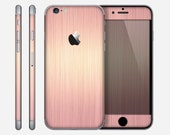 The Rose Gold Brushed Surface Skin for the Apple iPhone 6 or 6 Plus