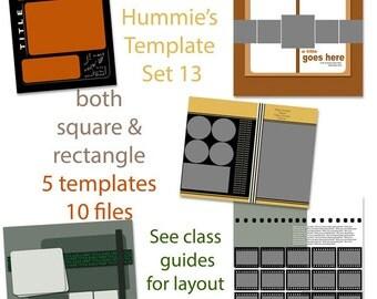 Digital Scrapbooking Template Set 13