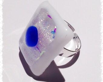 Glass fusing - Dichroic Glass ring