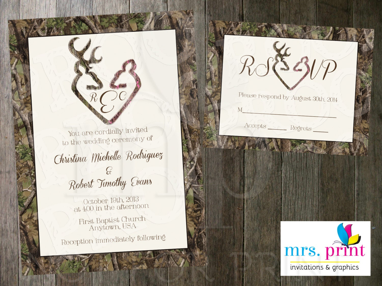 Printable Camo Wedding Invitations Wedding Ideas