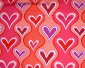 "Valentine Fabric ""Wavy Hearts"" by Hallmark Occasions for Free Spirit of Westminster Fabrics, By the Yard, 43/44 inches Wide - SuesFabricNSupplies"