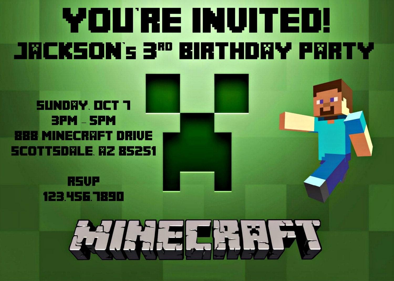 Minecraft Birthday Invitation Template was luxury invitations design