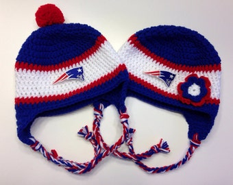 New England Patriots Crochet Hat in Royal Blue