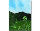 Lucky 4 Leaf Clover - Childhood Memories - Good Luck Card - Friendship - Retirement - St Patrick's Day Card (CMEM2013060)