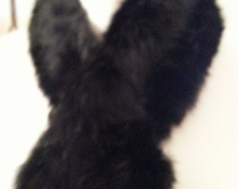 Genuine Rabbit Fur Collar