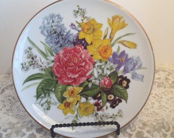 Fruhlingsmorgen, Spring Morning Collector Plate, 1987, First Issue In the Band's Bouquets of the Seasons from Hutschenreuther.