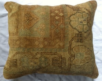 Pillow Made from Vintage Carpet