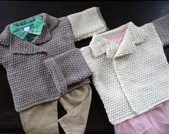 Knitting Patterns Using Squares And Rectangles : RECTANGLE BABY SWEATER PATTERN Free Baby Patterns
