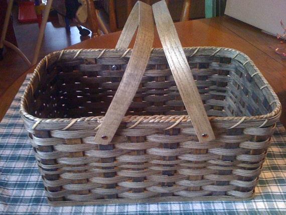Handmade Market Baskets : Handmade amish reed market basket in by amishhiddentreasures
