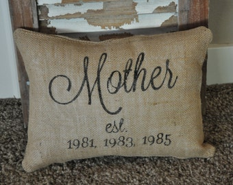 Mother Pillow Cover Cottage Chic decor, Family pillow cover, Country home Decor pillow, Personalized pillow, Decorative pillow.