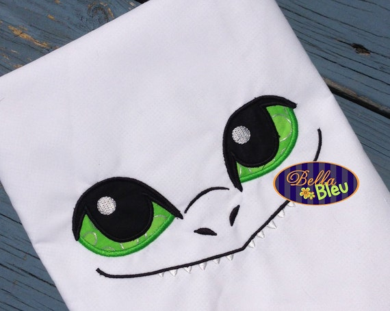 Dragon Eyes Machine Applique Embroidery Designs For Towel Or