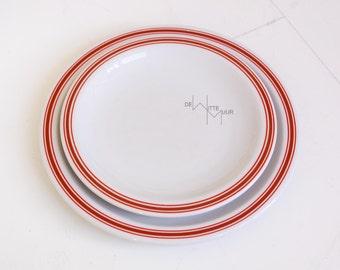 vintage plates Dutch design Mosa stripe