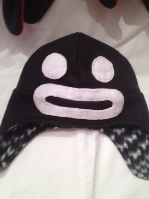 Steven only hat.  The reversible side is black and white fleece print