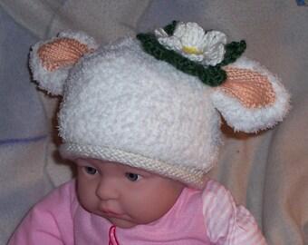 Knit Baby Lamb Hat