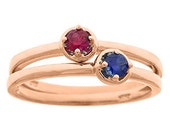Rose Gold Personalized Birthstone Stackable Ring