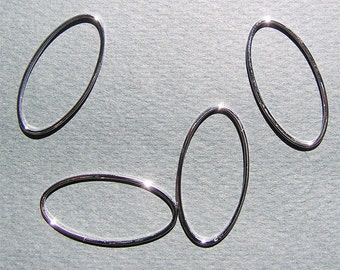 30x15mm Medium Silver Oval Link Modern Jewelry Supply 10 pcs Sale