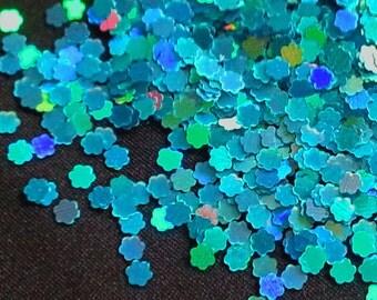 solvent-resistant glitter shapes-hologram peacock flowers