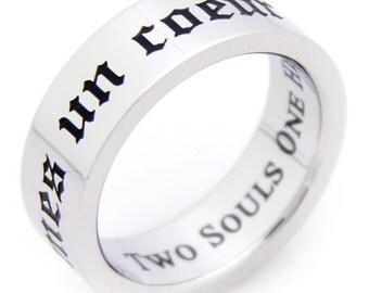 Deux Ames Un Coeur Ring