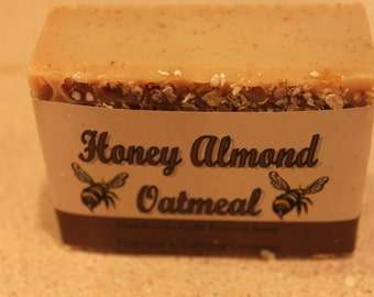 Natural Oatmeal Milk and Honey Handmade Cold Process Soap
