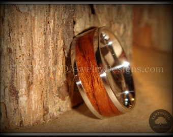 Bentwood Ring - Waterfall Bubinga Handmade Wood Ring with Stainless Steel Metal Core for an extremely durable and beautiful wooden ring.