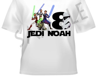 Star Wars A birthday t-shirt - Personalized with name and age -