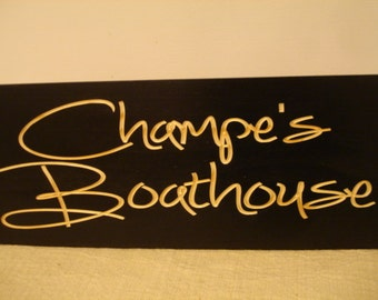 Marina Signs, Lake house, Boat House, Personalized Wooden Carved Sign, Bar Signs, ManCave, Boating,  Boat House, Sign, Custom Wood Signs