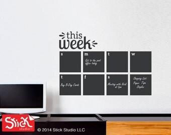 Calendar Wall Decal - Chalkboard Calendar Decal - Blackboard Decal - Chalkboard Calendar - Chalkboard 098