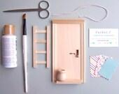 SALE - Fairy Door Kit, Tooth Fairy Door, Tooth Fairy, Tooth Fairy Door Kit, Handmade Kit, children room decor, wood toy