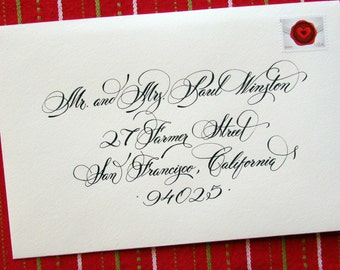 Custom Wedding Hand Calligraphy Envelope