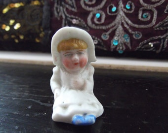 Antique Bisque cake topper - small girl