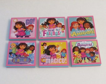 Dora and Friends Note Pads Set of 6 - Excellent Party Favors - Dora the Explorer and Friends