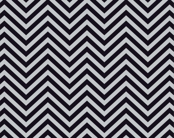 Gray and black chevron craft  vinyl sheet - HTV or Adhesive Vinyl -  zig zag pattern   HTV68