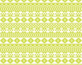Lime and white tribal pattern craft  vinyl sheet - HTV or Adhesive Vinyl -  Aztec Peruvian pattern HTV908