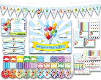 Balloon - PDF JPG Instant Download Printable All Purpose Party Pack Package