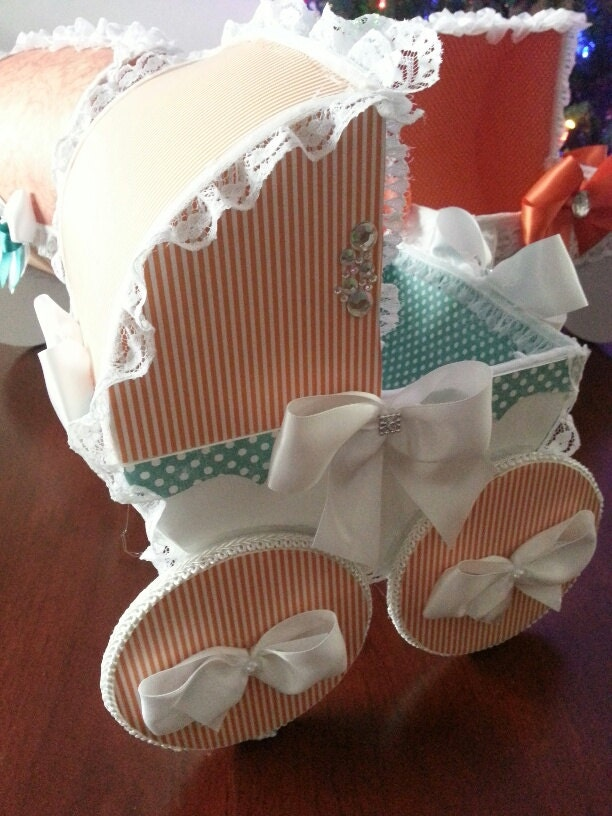 The ali baby carriage centerpiece for Baby carriage decoration
