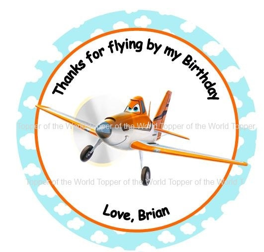 Airplane Birthday Party Favor Tags: 12 Plane Personalized Planes Birthday Party By