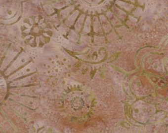 Soft Warm Pink Batik Fabric