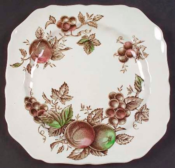 Vintage Plate, Desert, Salad Plate, Johnson Brothers Harvest Time, Luncheon Plate, England, Hand Engraving, Vintage Gift, Replacements