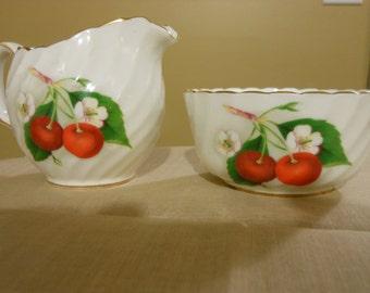 Adderley Fine Bone China Mini Open Sugar Bowl and Mini Creamer