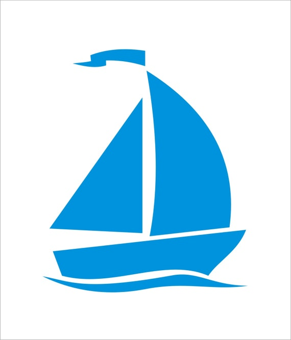 Sailboat SAIL BOAT Beach Reusable Stencil 7 Sizes Available