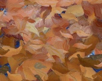 Four Seasons - Autumn (abstract canvas print)