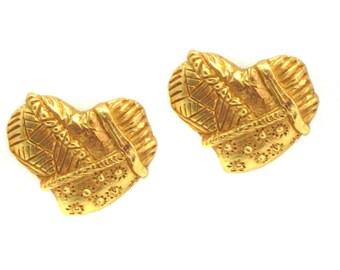 CHRISTIAN LACROIX, earrings in the shape of heart
