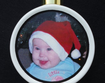 Custom Photo Ornament *Personalized* Christmas, Holiday, Family, Friends, Pet, Cat, Dog