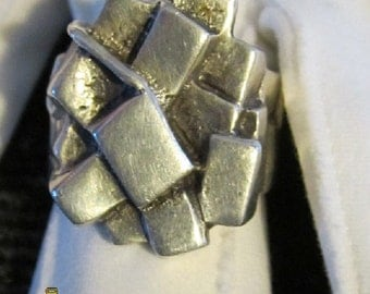 Sterling ring size 10 signed JAD - beautiful !