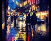 Square Print - London at Night - Monmouth Street - Covent Garden Photography