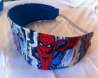 The Amazing Spiderman Reversible Fabric Headband, Marvel, Superhero, Comic Book