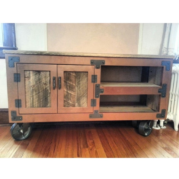 industrial entertainment unit media center tv stand